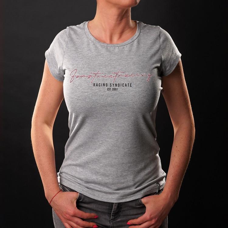 T-shirt Script Roze