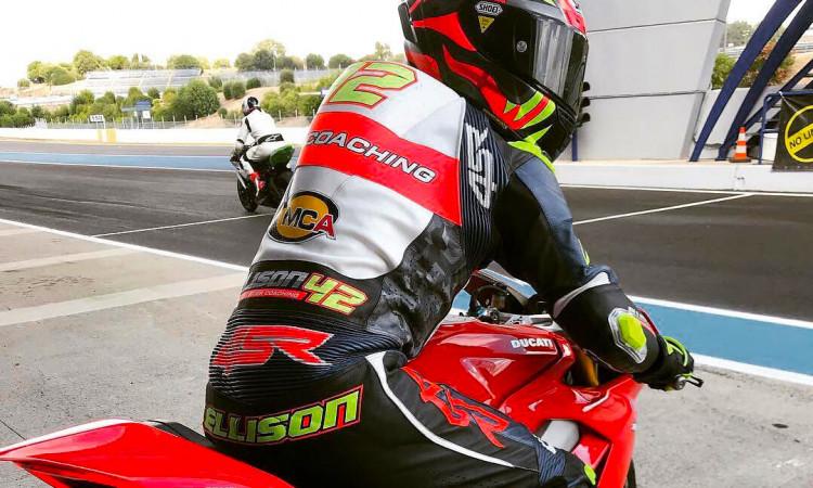 4SR Dean Ellison coaching custom leathers