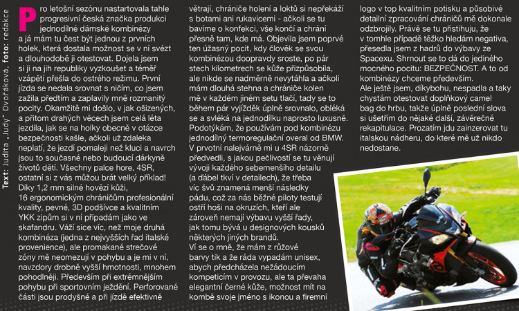4SR Crash test - recenze Judy z časopisu MotorBike